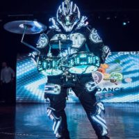 led-drummer-robot-for-cruise-entertainment
