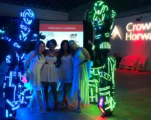 led-robots-for-event-entertainment-charity
