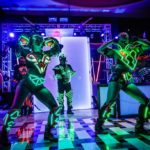 led robots dancers musicians event entertainment